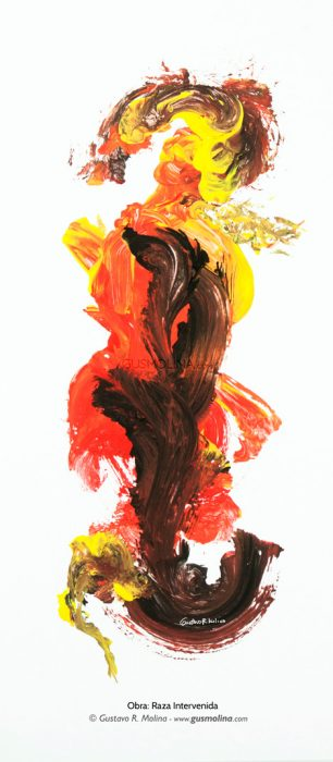Pintura Gus Molina Tempera Acrilico
